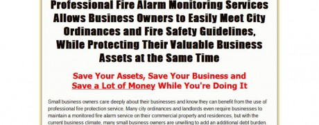 Fire Alarm Monitoring Sales Page