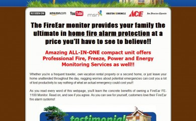 Home Fire Alarm Sales Page