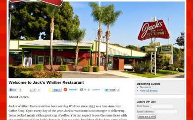 Jack's Whittier Restaurant Homepage