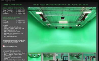The Greenery Studio Green Screen Page