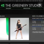 The Greenery Studio White Screen Page