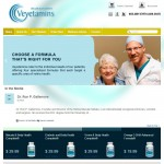 vEyetamins E-Commerce Homepage