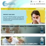 vEyetamins E-Commerce Products Page