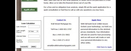 Wall Street Mortgage Homepage